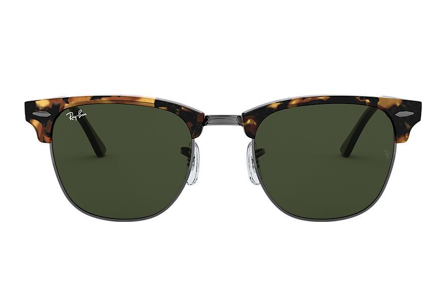 Ray-Ban Clubmaster Fleck Black, Green Lenses - RB3016