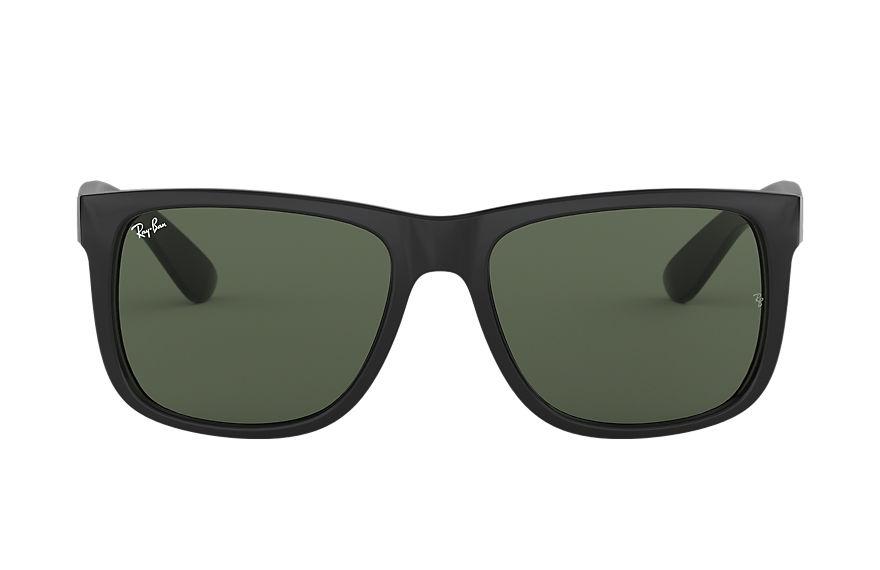 Ray-Ban Justin Classic Black, Green Lenses - RB4165