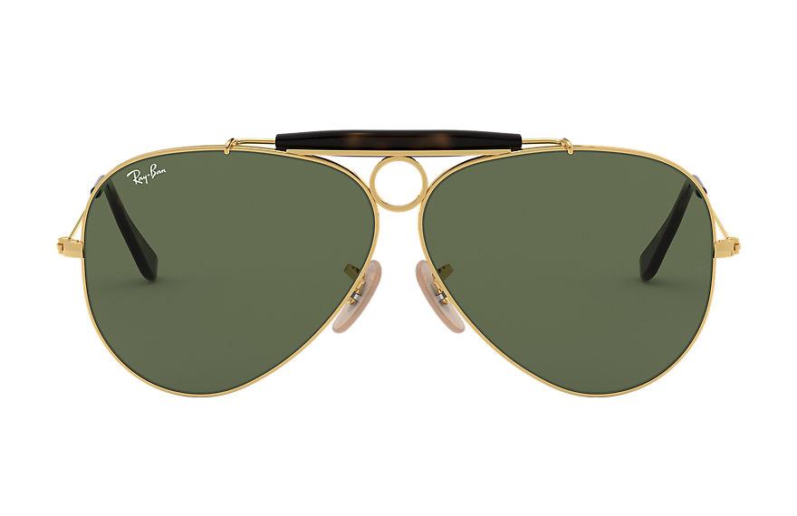 Ray-Ban Shooter Havana Collection Gold, Green Lenses - RB3138