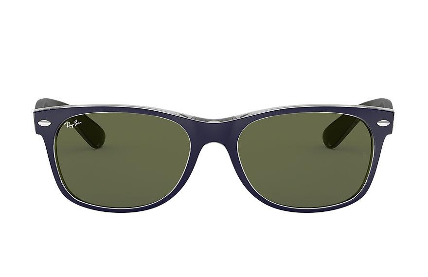 Ray-Ban New Wayfarer Bicolor Blue, Green Lenses - RB2132