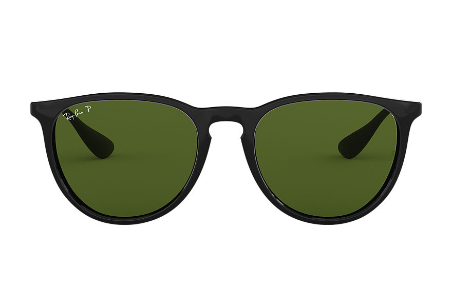 Ray-Ban Erika Classic Black, Polarized Green Lenses - RB4171