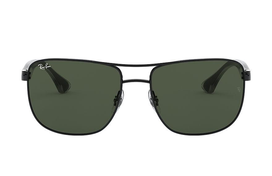 Ray-Ban Rb3533 Black, Green Lenses - RB3533