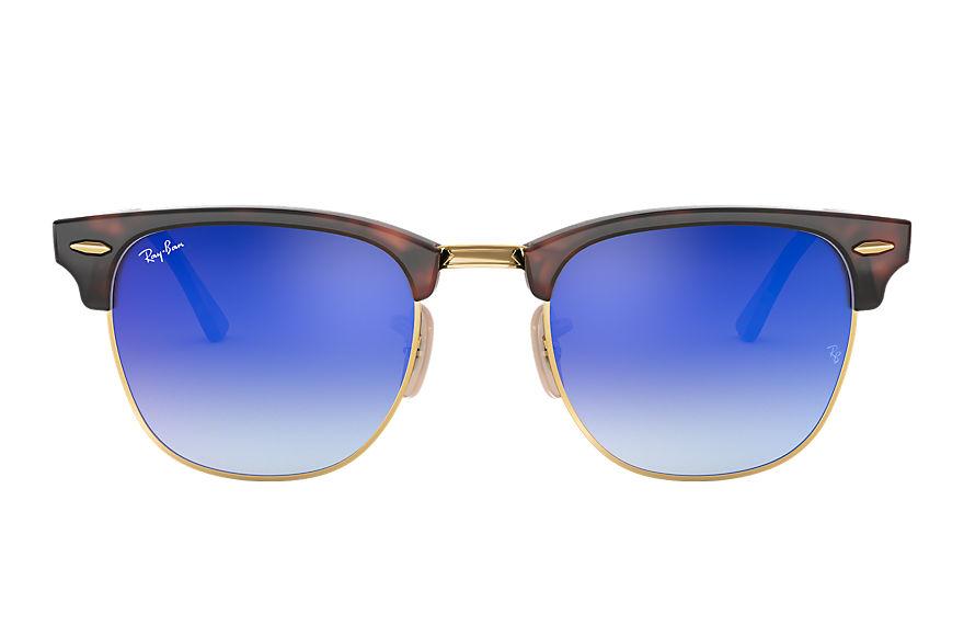 Ray-Ban Clubmaster Flash Lenses Gradient Tortoise, Blue Lenses - RB3016