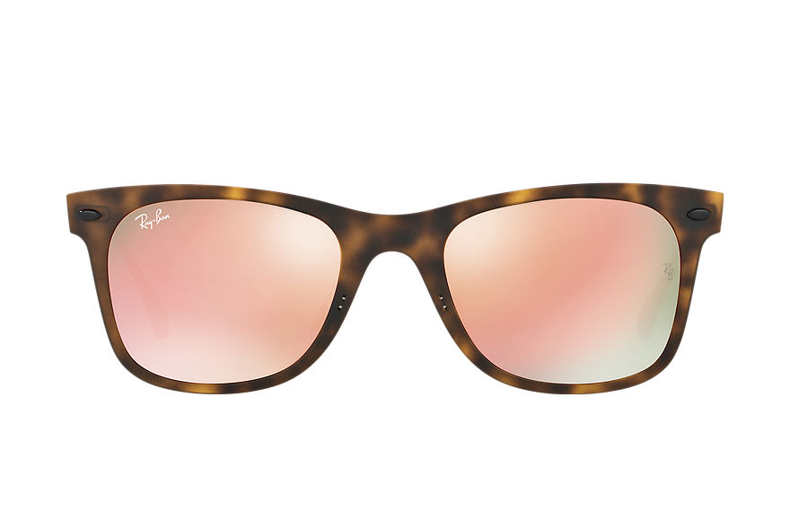 Ray-Ban Wayfarer Light Ray Gunmetal, Pink Lenses - RB4210
