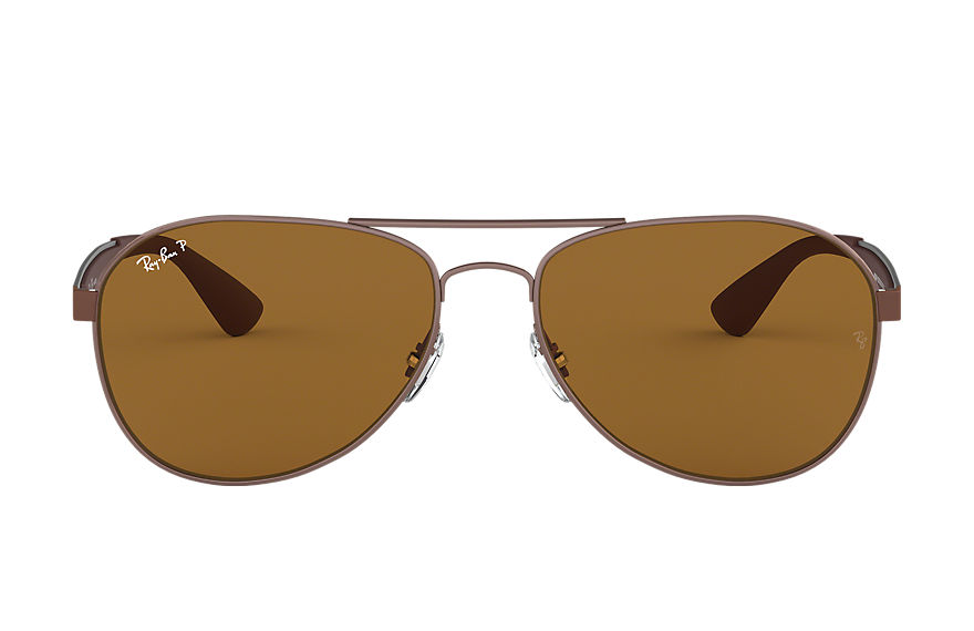 Ray-Ban Rb3549 Brown, Polarized Brown Lenses - RB3549