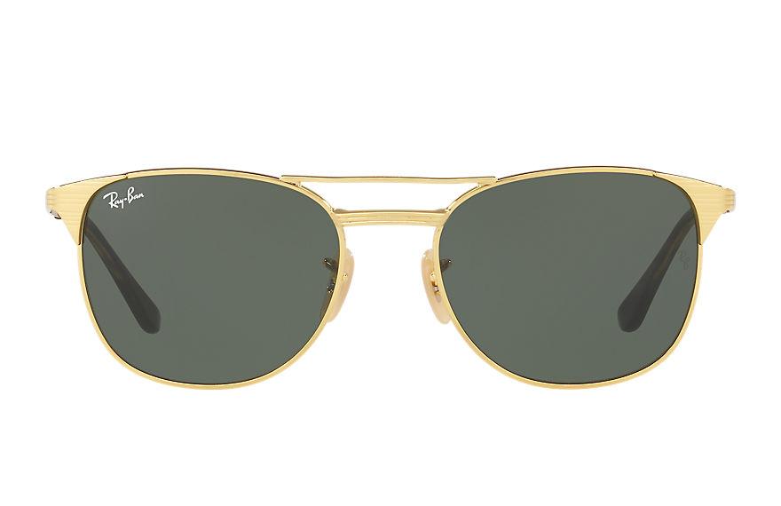 Ray-Ban Signet Gold, Green Lenses - RB3429M
