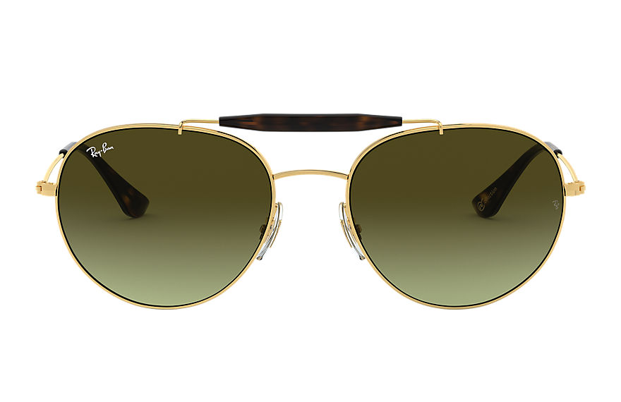 Ray-Ban Rb3540 @collection Gold, Green Lenses - RB3540