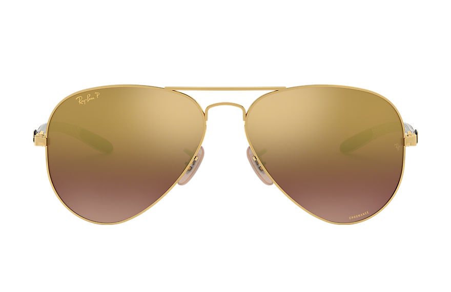 Ray-Ban Rb8317 Chromance Gold, Polarized Violet Lenses - RB8317CH