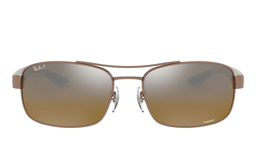 Ray-Ban Rb8318 Chromance Light Brown, Polarized Brown Lenses - RB8318CH