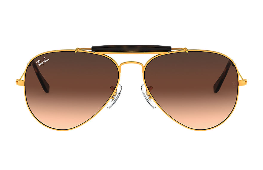 Ray-Ban Outdoorsman II Bronze-Copper, Pink Lenses - RB3029
