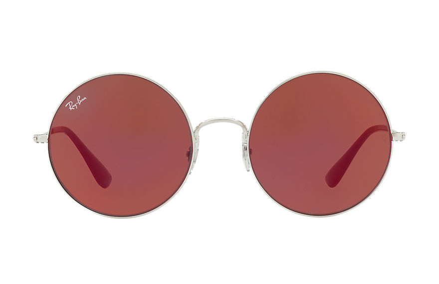 Ray-Ban Ja-jo Silver, Red Lenses - RB3592