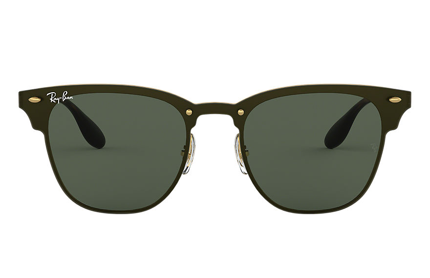 Ray-Ban Blaze Clubmaster Gold, Green Lenses - RB3576N