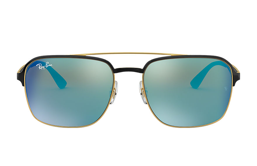 Ray-Ban Rb3570 Black, Blue Lenses - RB3570
