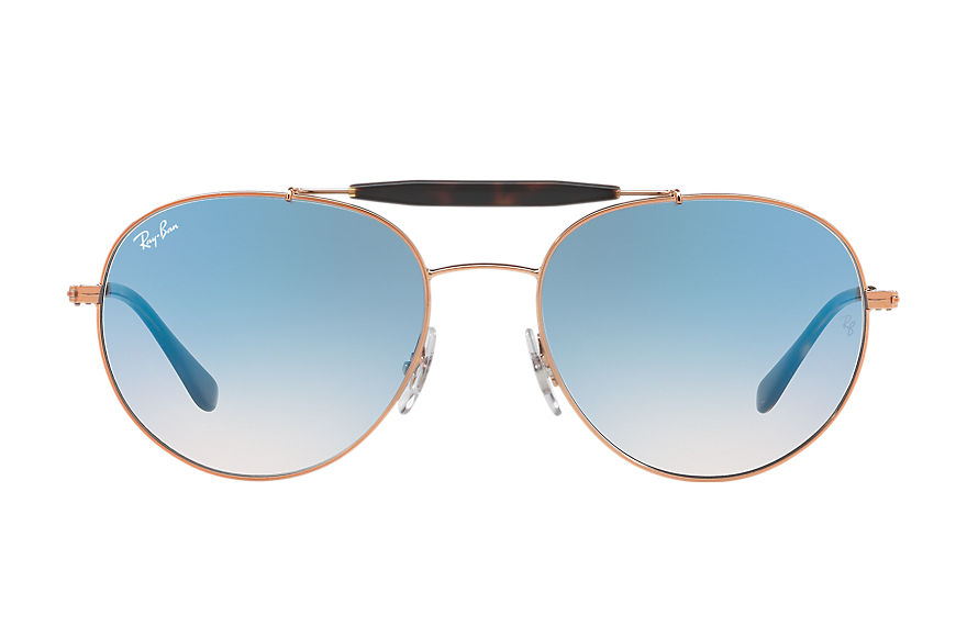 Ray-Ban Rb3540 Bronze-Copper, Sky Blue Lenses - RB3540