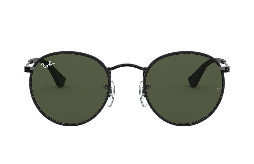 Ray-Ban Round Craft Black, Green Lenses - RB3475Q