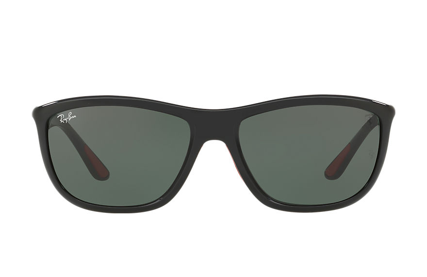 Ray-Ban Rb8351m Scuderia Ferrari Collection Black, Green Lenses - RB8351M