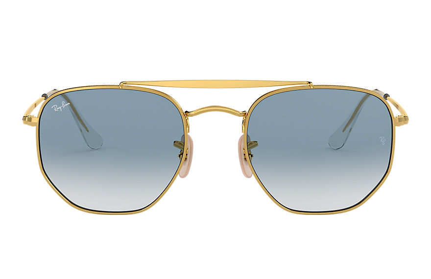 Ray-Ban Marshal Gold, Blue Lenses - RB3648