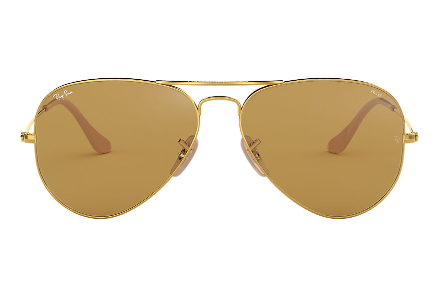 Ray-Ban Aviator Washed Evolve Gold, Brown Lenses - RB3025