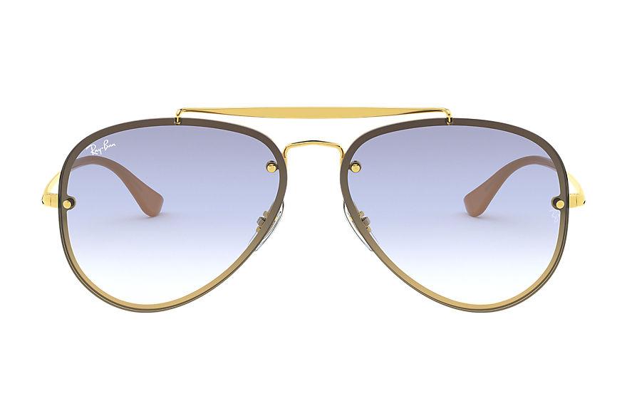 Ray-Ban Blaze Aviator Gold, Blue Lenses - RB3584N