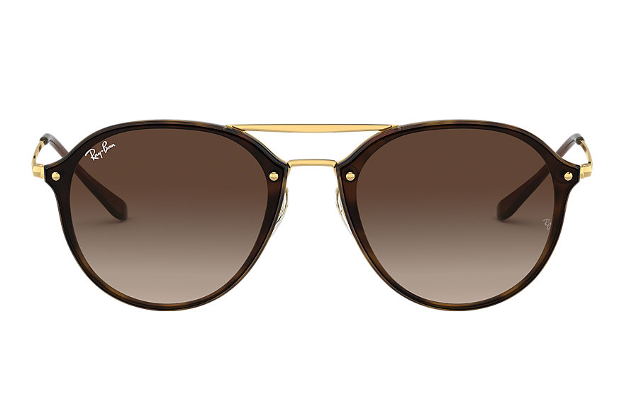 Ray-Ban Blaze Double Bridge Gold, Brown Lenses - RB4292N