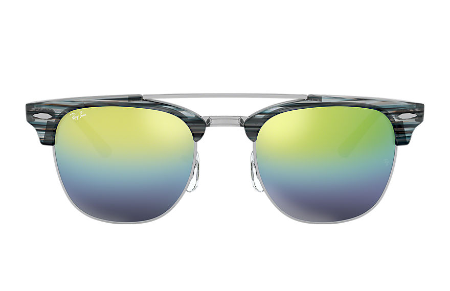 Ray-Ban Clubmaster Double Bridge Blue, Blue Lenses - RB3816