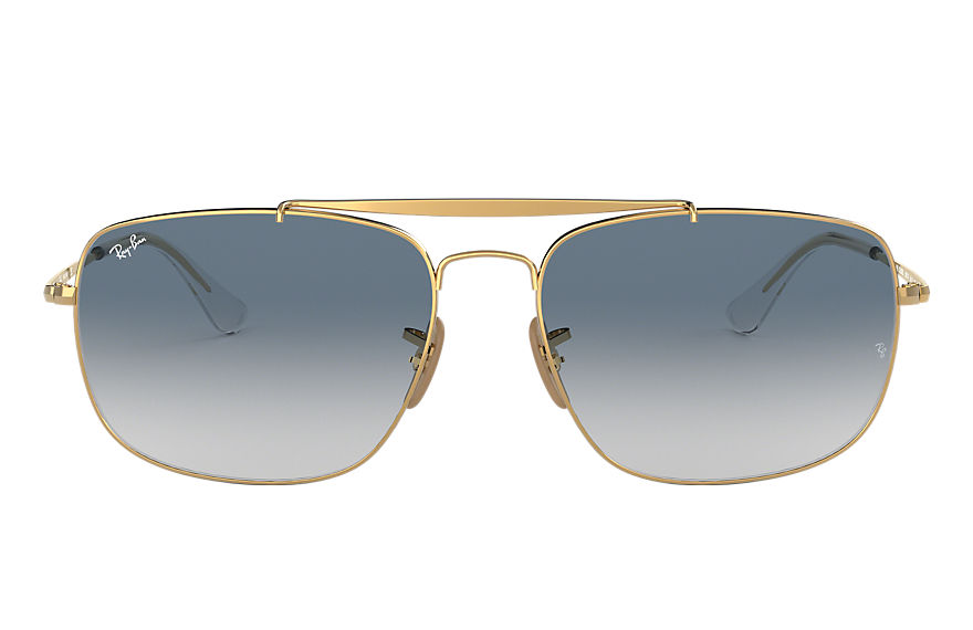 Ray-Ban Colonel Gold, Blue Lenses - RB3560