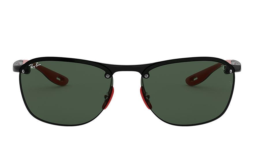 Ray-Ban Scuderia Ferrari Collection Rb4302m Black, Green Lenses - RB4302M