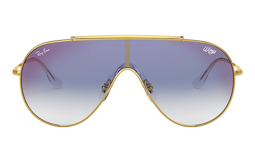 Ray-Ban Wings Gold, Blue Lenses - RB3597