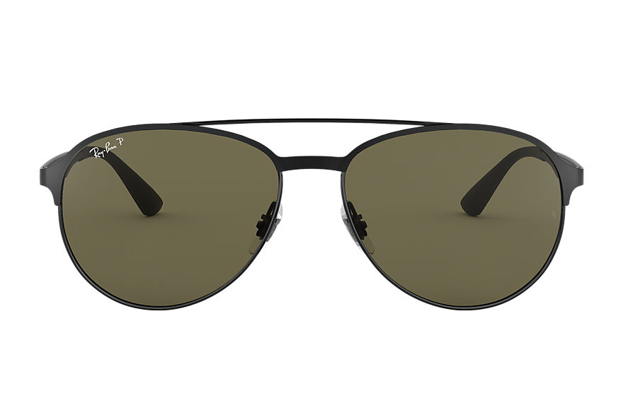 Ray-Ban Rb3606 Black, Polarized Green Lenses - RB3606