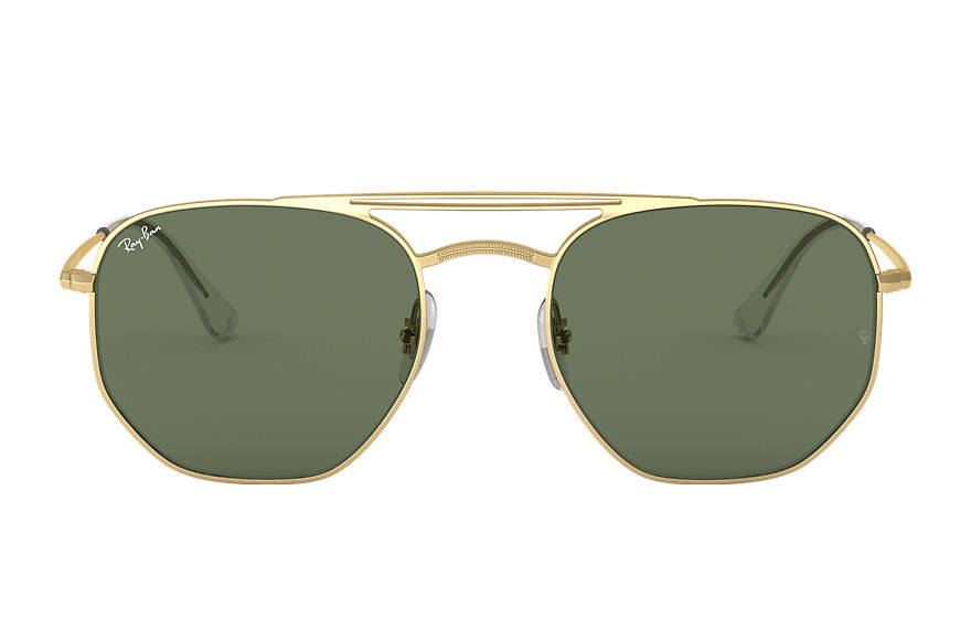 Ray-Ban Rb3609 Gold, Green Lenses - RB3609