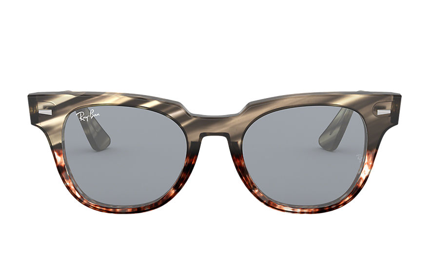 Ray-Ban Meteor Striped Havana Grey, Blue Lenses - RB2168