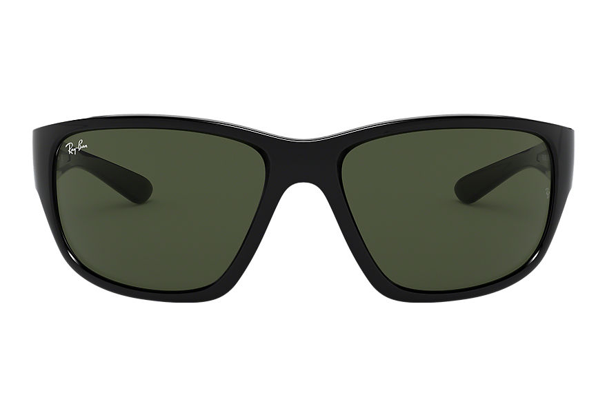 Ray-Ban Rb4300 Black, Green Lenses - RB4300