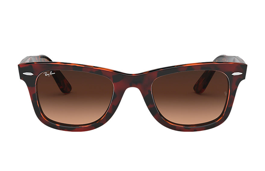 Ray-Ban Original Wayfarer Color Mix Low Bridge Fit Red Havana, Pink Lenses - RB2140F