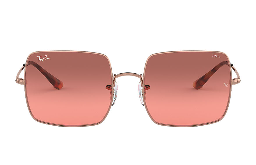 Ray-Ban Square 1971 Washed Evolve Bronze-Copper, Red Lenses - RB1971