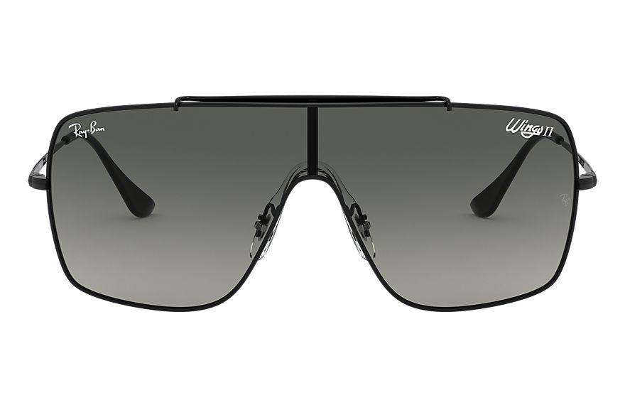 Ray-Ban Wings II Black, Gray Lenses - RB3697