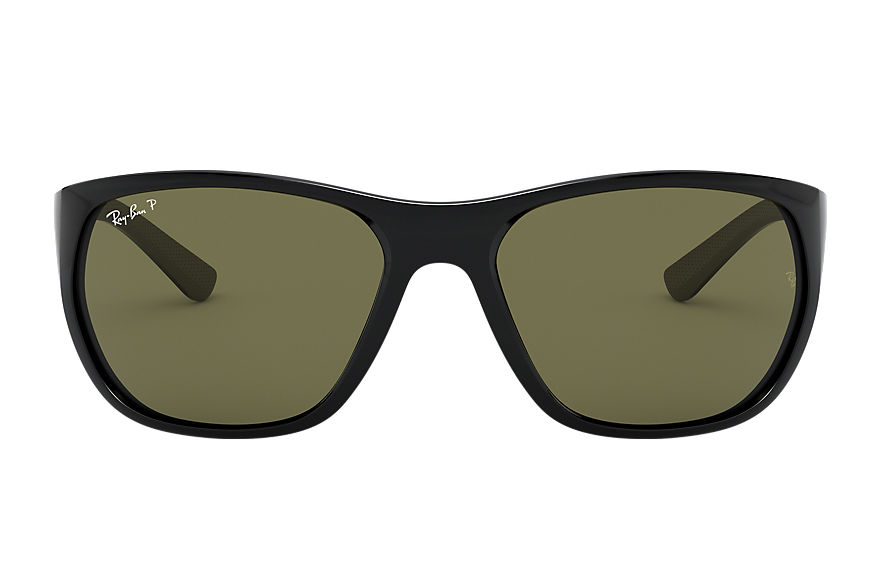 Ray-Ban Rb4307 Black, Polarized Green Lenses - RB4307