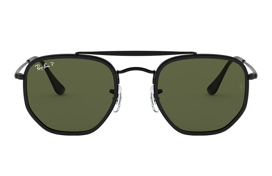 Ray-Ban Marshal II Black, Polarized Green Lenses - RB3648M