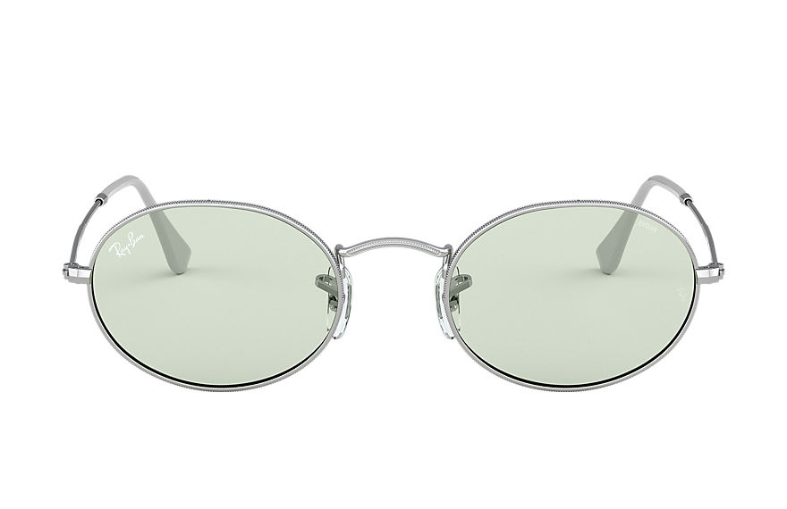 Ray-Ban Oval Solid Evolve Silver, Green Lenses - RB3547