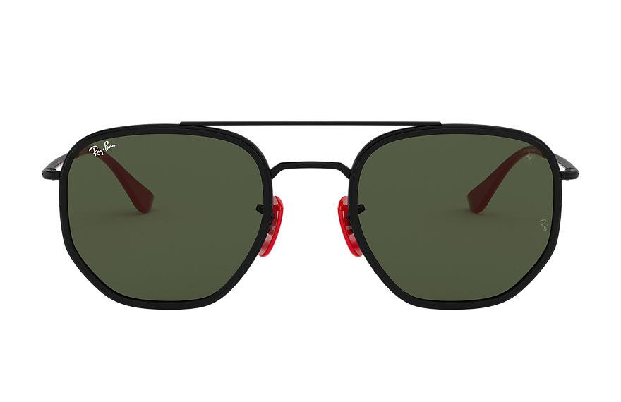 Ray-Ban Rb3748m Scuderia Ferrari Collection Black, Green Lenses - RB3748M