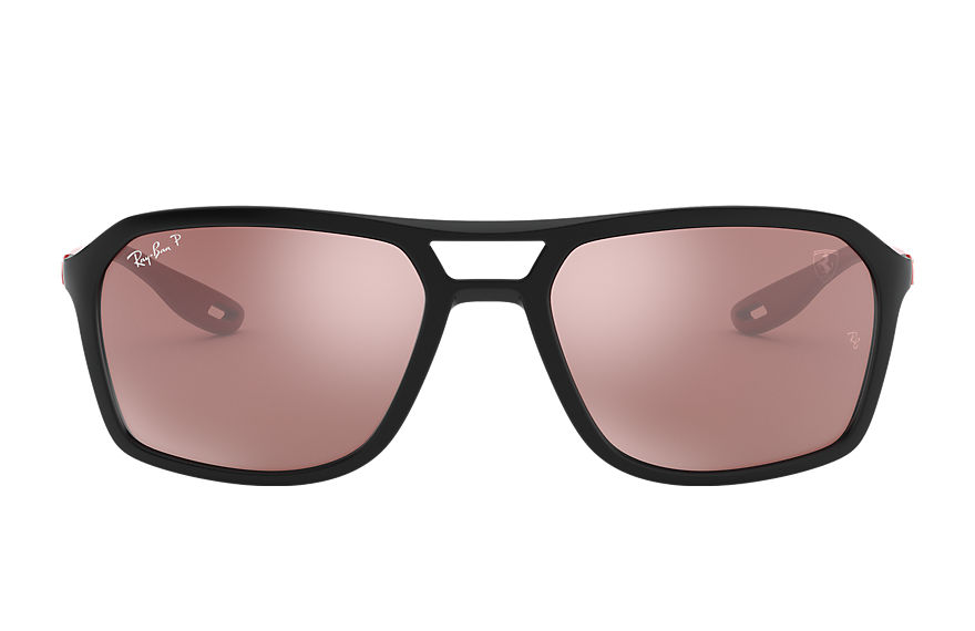 Ray-Ban Rb4329m Scuderia Ferrari Collection Rubber Red, Polarized Grey Lenses - RB4329M