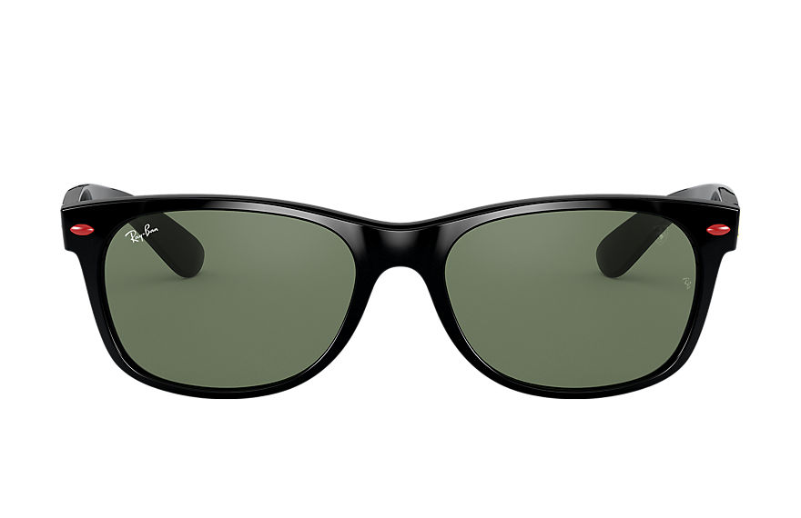 Ray-Ban Rb2132m Scuderia Ferrari Collection Black, Green Lenses - RB2132M