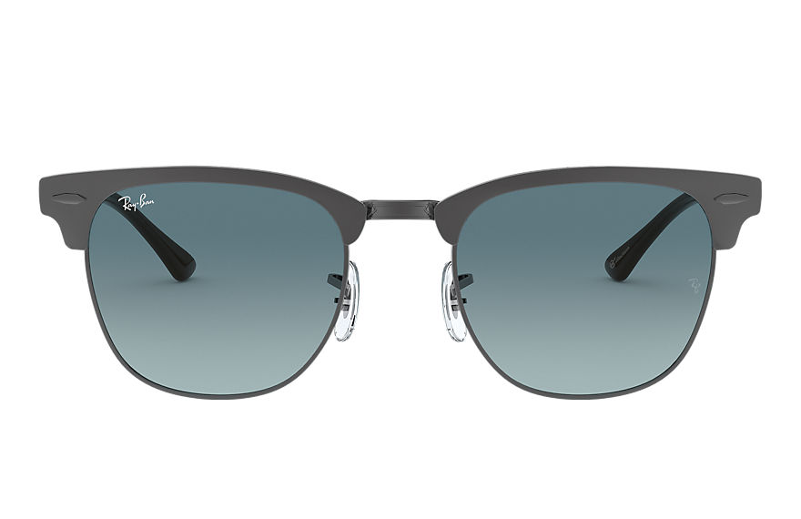 Ray-Ban Clubmaster Metal @collection Gunmetal, Blue Lenses - RB3716