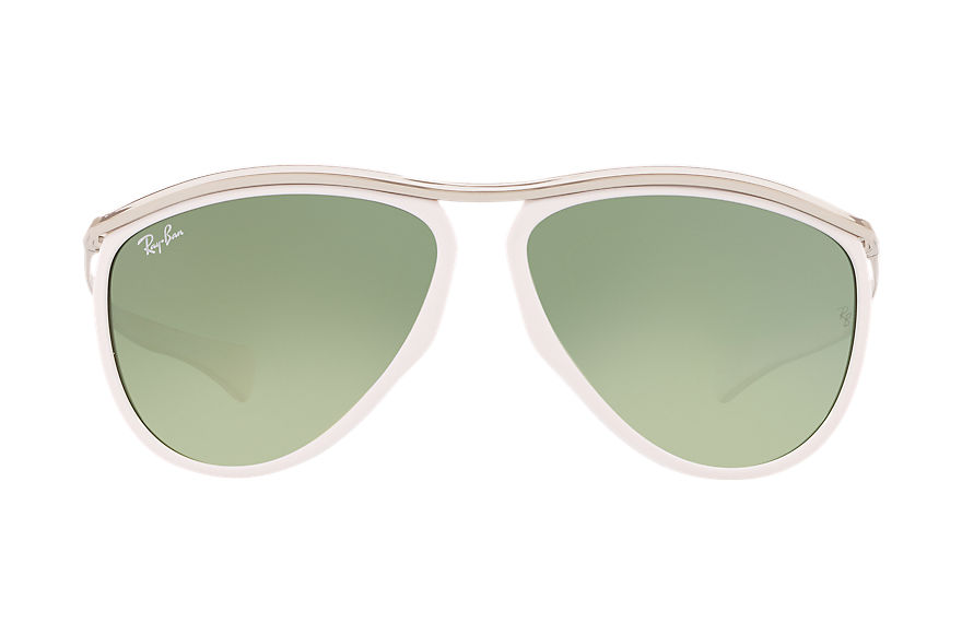 Ray-Ban Olympian Aviator Hd60 Silver, Green Lenses - RB2219