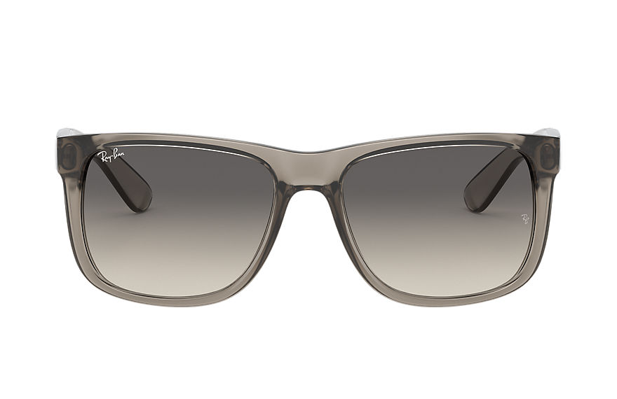 Ray-Ban Justin Exclusive Transparent Grey, Gray Lenses - RB4165