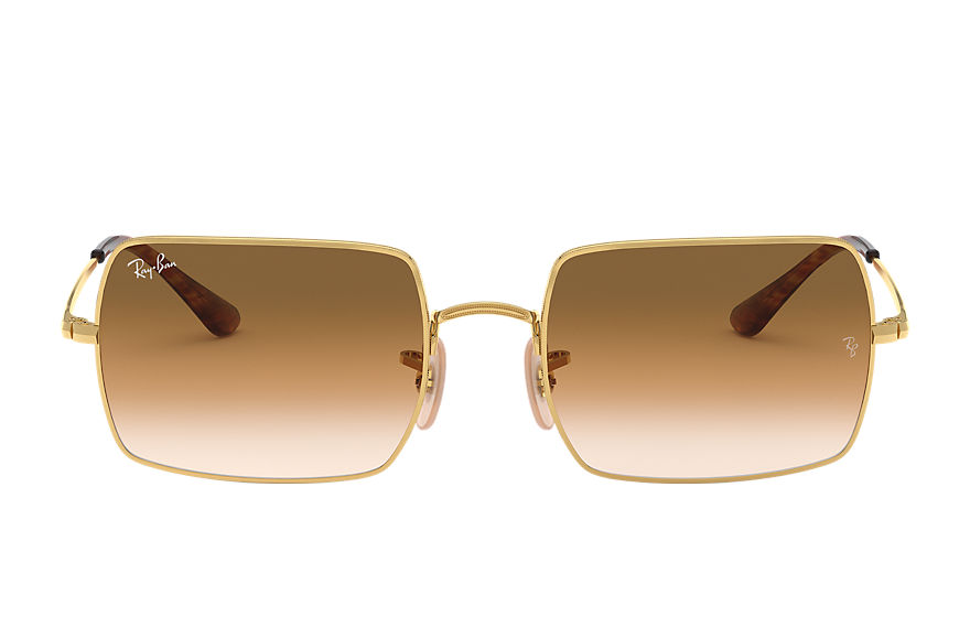 Ray-Ban Rectangle 1969 Gold, Brown Lenses - RB1969