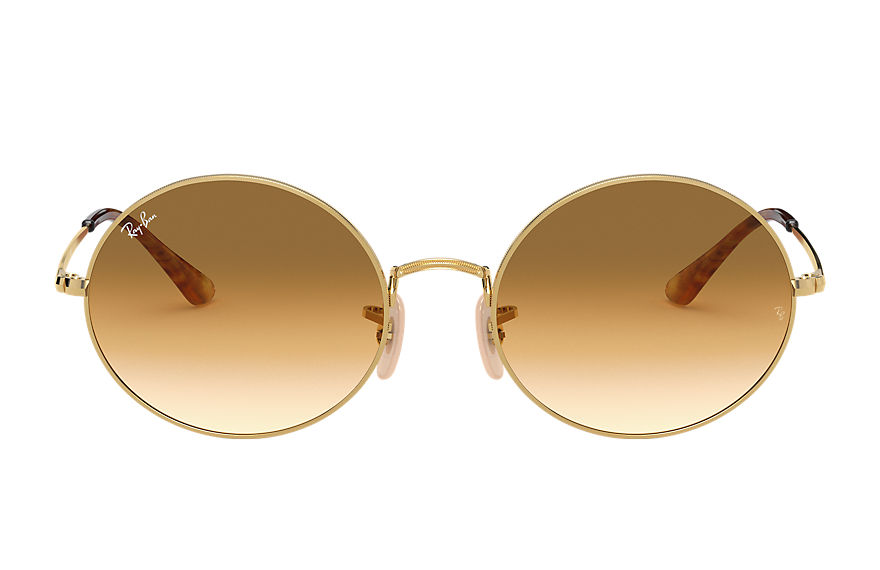 Ray-Ban Oval 1970 Gold, Brown Lenses - RB1970