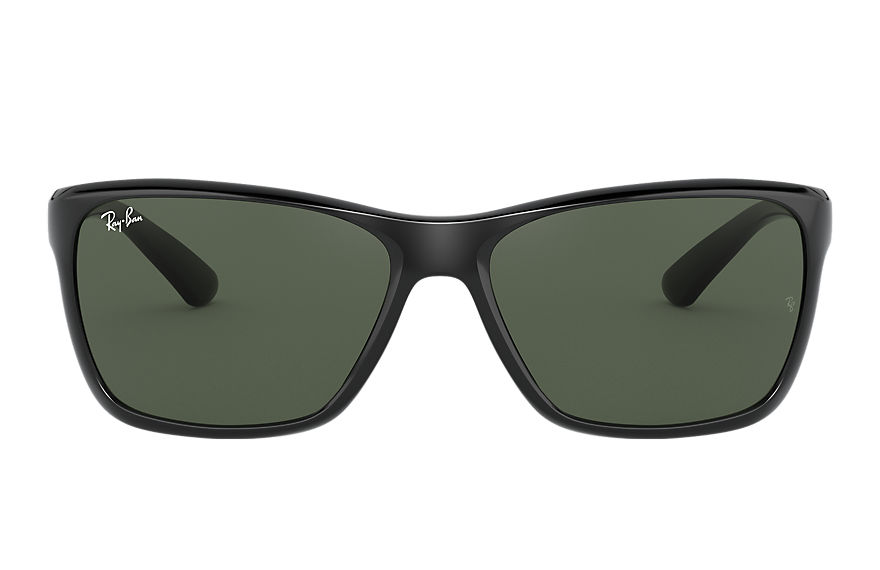 Ray-Ban Rb4331 Black, Green Lenses - RB4331