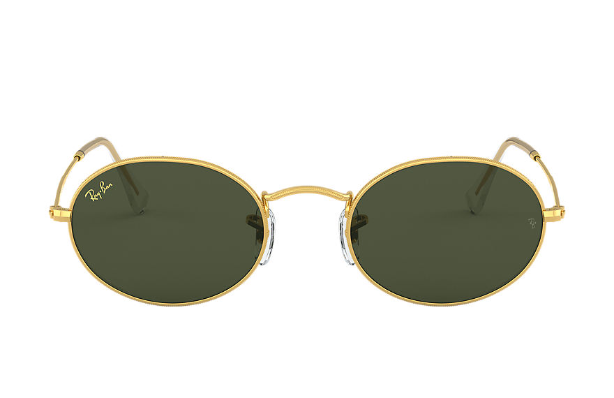 Ray-Ban Oval Legend Gold Gold, Green Lenses - RB3547