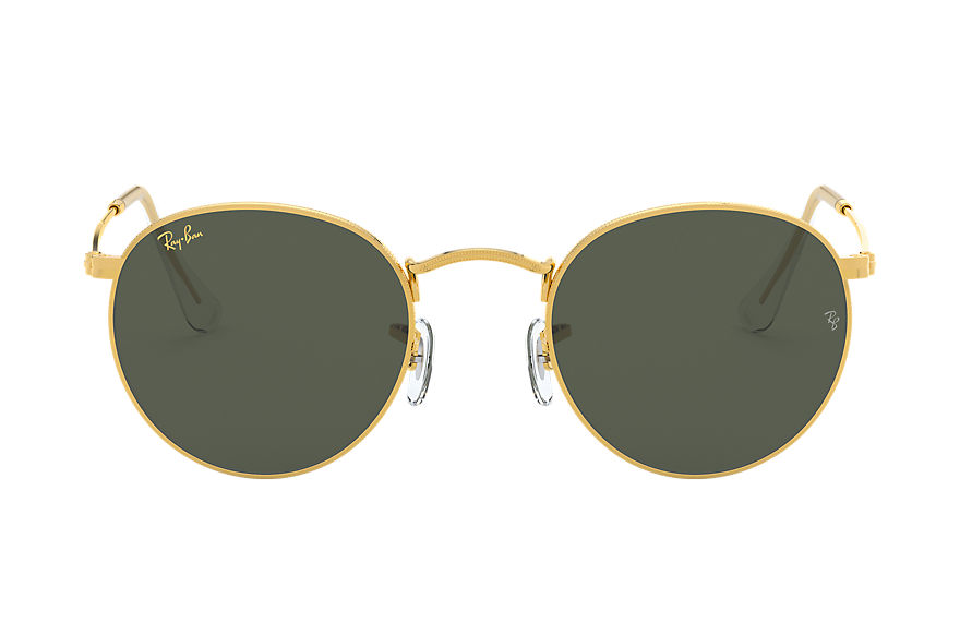 Ray-Ban Round Metal Legend Gold Gold, Green Lenses - RB3447