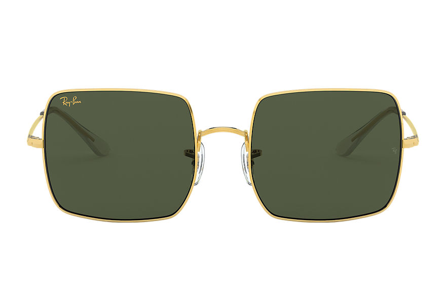 Ray-Ban Square 1971 Legend Gold Gold, Green Lenses - RB1971